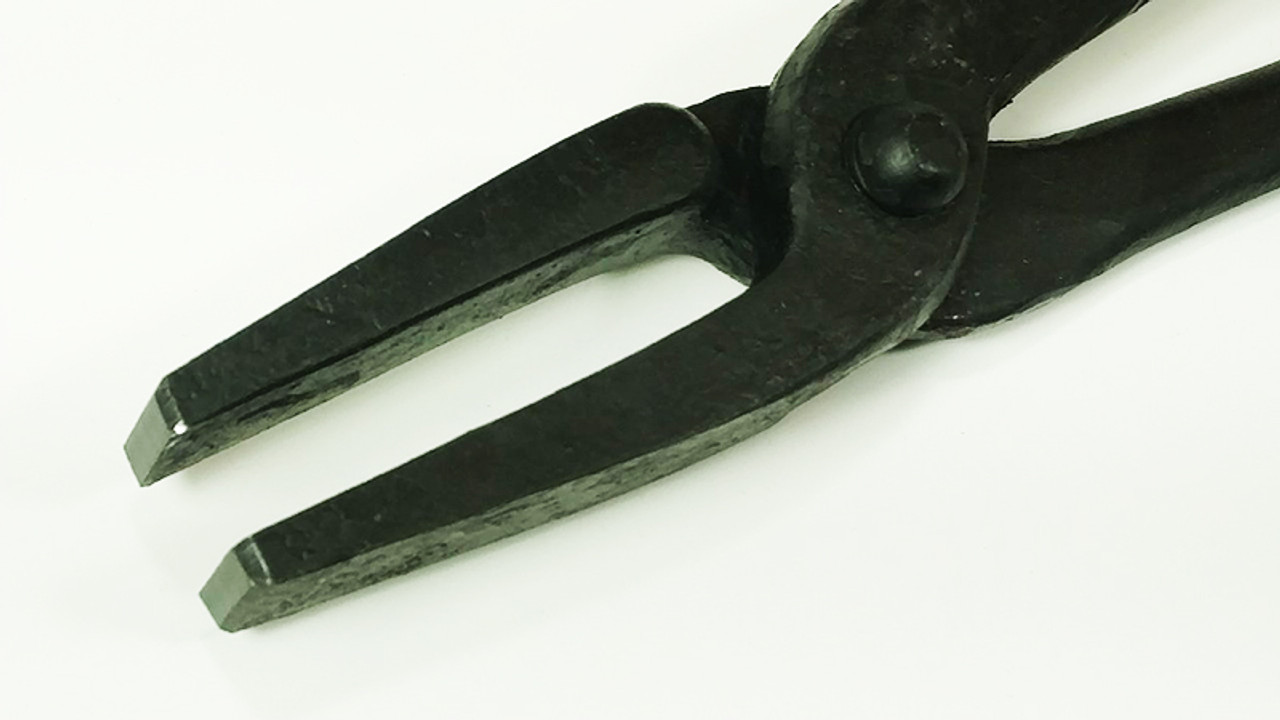 """Picard 600mm/24"""" Flat-nosed Blacksmith Tong, 1600gm/3.5 lb., for material 17-18mm"""