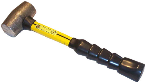 4MIF18 4 lb. Malleable Iron Hammer with 18 inch fiberglass handle.