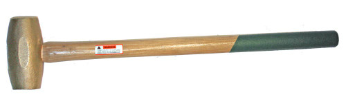 "10 lb Brass Sledge Hammer with 24"" Wood handle"