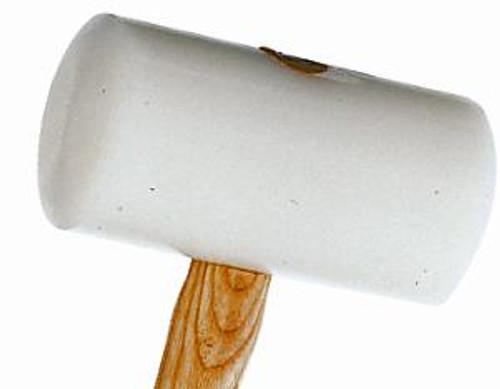 """Picard 800gm (28oz) white plastic mallet, 80mm (3 1/8"""") faces."""