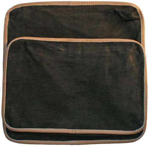 "18"" by 12"" Rectangular Leather shot bag (unfilled) for metalworking."