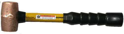 """3lb Copper Hammer, 14"""" Rubber Super Grip fiberglass handle."""