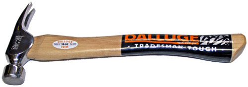 "Dalluge 1650 16 oz. Trim Hammer, Smooth face, 14"" Curved Hickory handle."