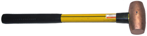 "8lb Copper Sledge Hammer with 36"" Fiberglass handle"