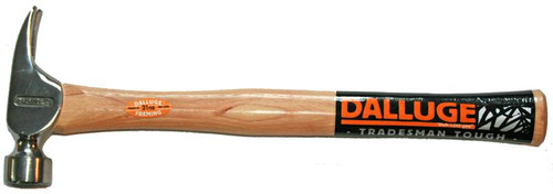 """Dalluge 2110 21 oz. Framing Hammer, serrated face, magnetic nail holder, 17"""" straight hickory handle."""
