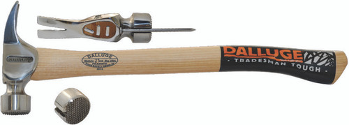 Dalluge 2115C 21 oz. Framing Hammer, serrated face.