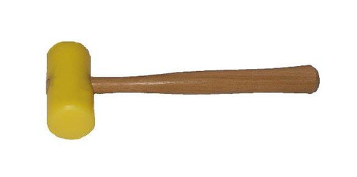"Garland 15005 19 oz. Hard yellow plastic mallet, 2 1/2"" face, wood handle."