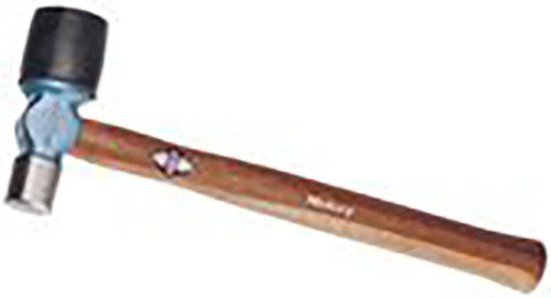 Picard Bumping Hammer, 1000gm (2lb) with 33mm round face and 55mm rubber cap face, wood handle.