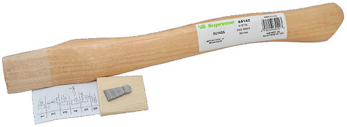 "Vaughan 14"" curved axe handle, teardrop eye 1 5/8 x 9/16"