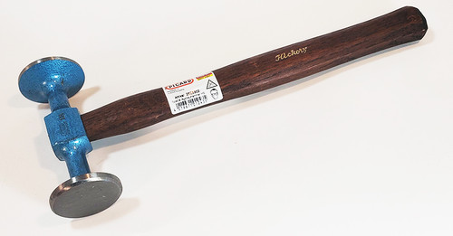 Picard Shrinking Hammer, 500gm (18oz), extra wide faces - 47mm round smooth face and 47mm round checked face.