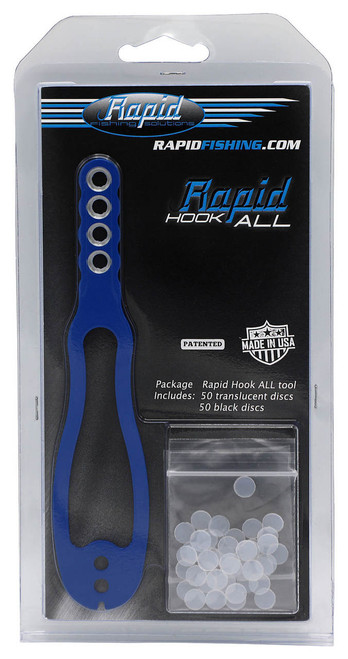 Rapid Fishing Solutions Freshwater Hook-All Tool in blue.