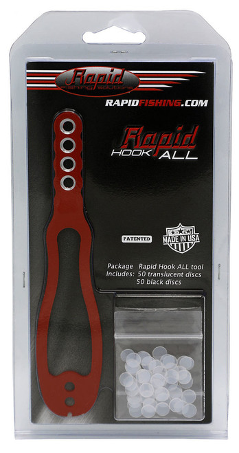 Rapid Fishing Solutions Freshwater Hook-All Tool in red.