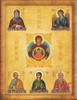 This is an example of a Family Icon with 5 additional saints.