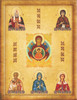This is another example of a Family Icon with 5 additional saints.