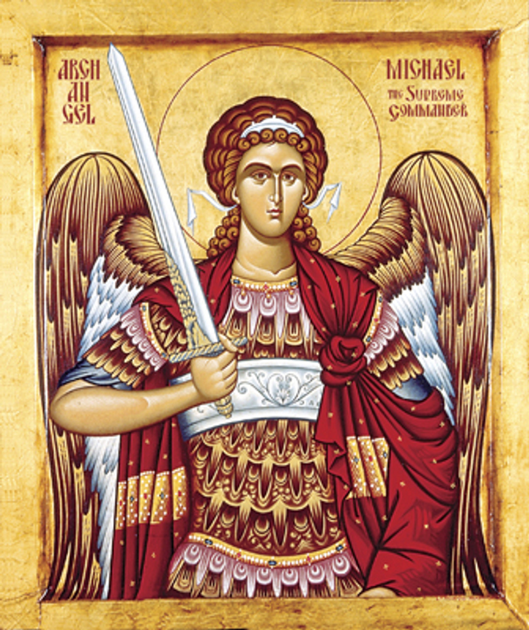 Icon of the Archangel Michael - Thassos - (1MI14) - Uncut Mountain ...