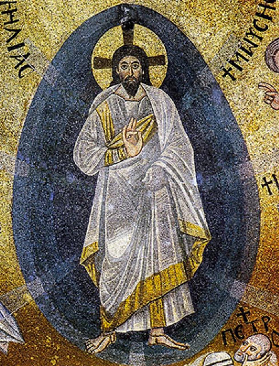 Icon of the Transfiguration (mosaic) - 6th c. Mt. Sinai ...