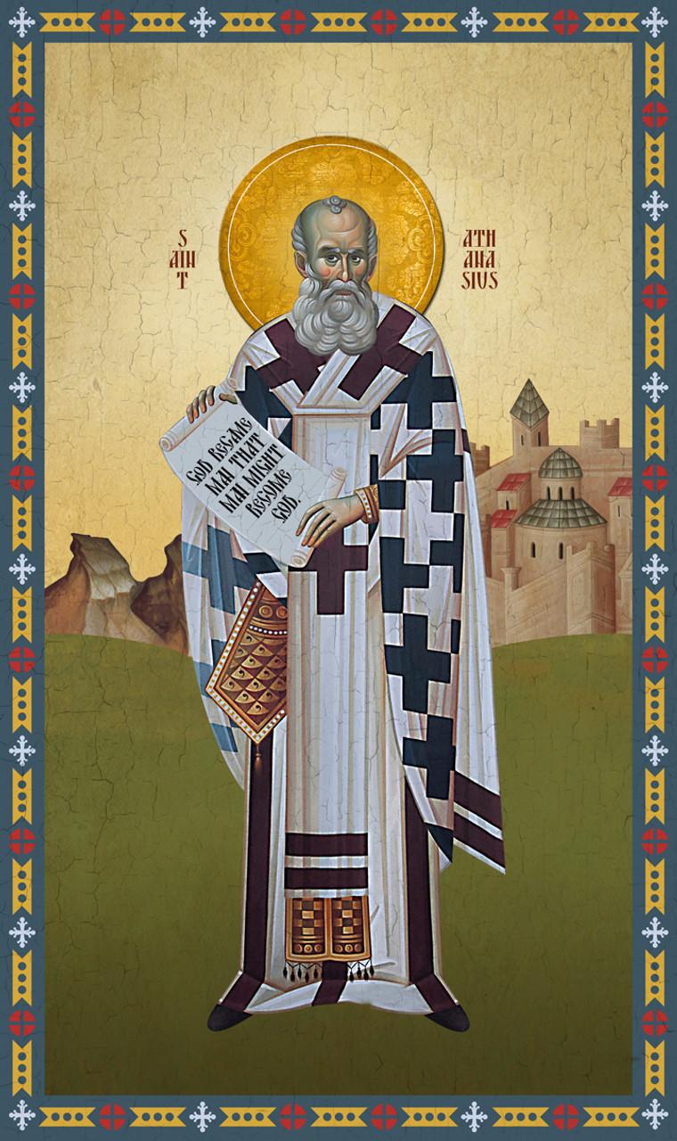Icon of St. Athanasios - (1AT15)