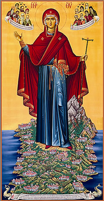 Icon of the Abbess of the Holy Mountain - 20th c. - (12H12)