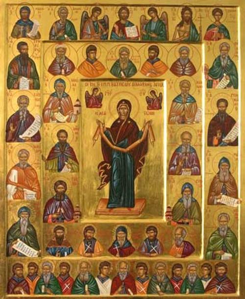 Icon of the Choir of Vatopedi Saints - (1NC11)