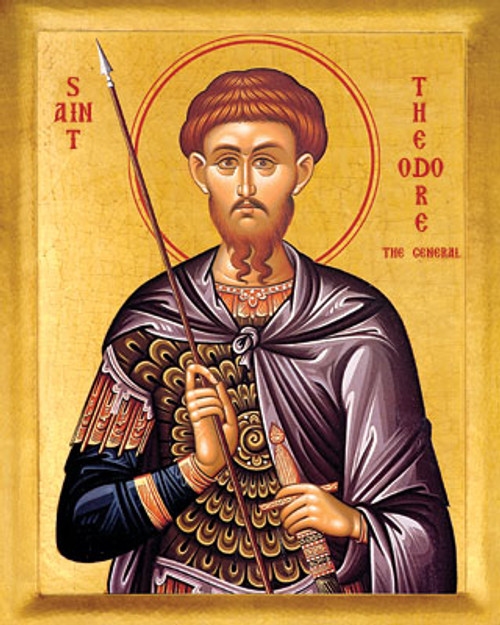 Icon of St. Theodore Tyron - 20th c. - (1TH21)