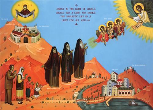 Icon of The Three Lights - 20th c. - English - (GML10)