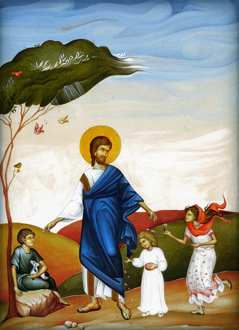 Icon of Christ and the Children (11P33)