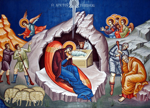 Icon of the Nativity of the Lord (Christmas) - 20th c. - (11A12)