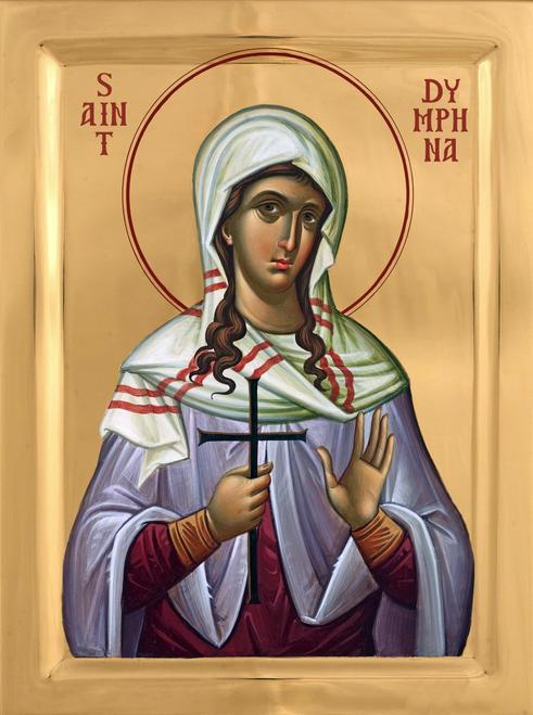 Icon of St. Dymphna (Daphne) - 20th c. - English - (1DY10)