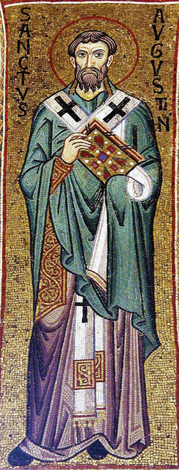Icon of St. Augustine of Hippo - 12th c. - (1AU10)