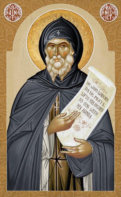 Icon of St. Benedict of Nursia - 20th c. - (1BE30)