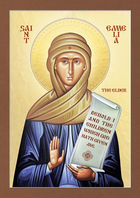 Icon of St. Emmelia the Elder - 20th c. - (1EM10)