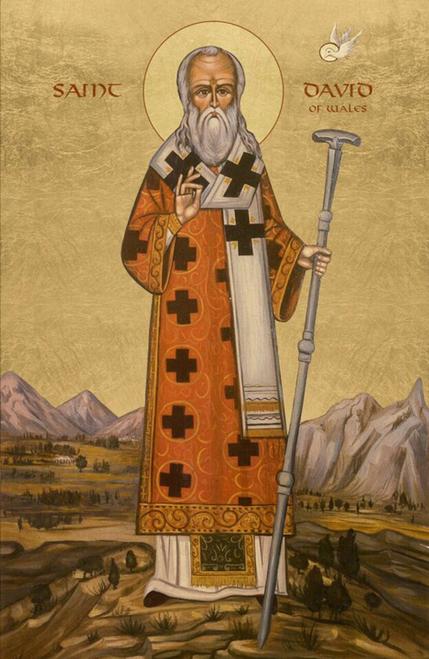 Icon of St. David of Wales - 20th c. - (1DA15)