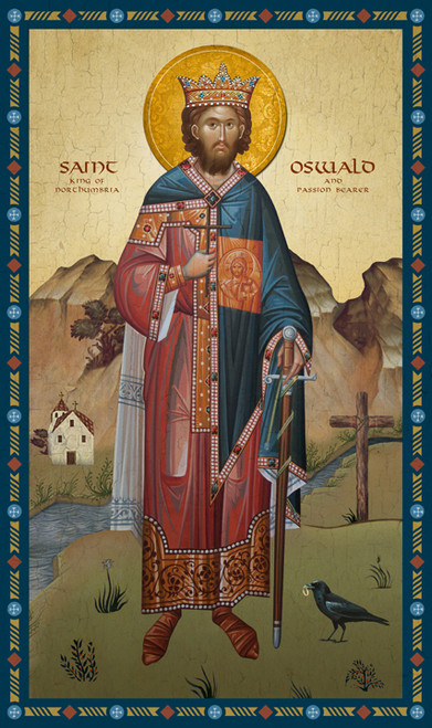 Icon of St. Oswald of Northumbria - 20th c. - (1OS10)