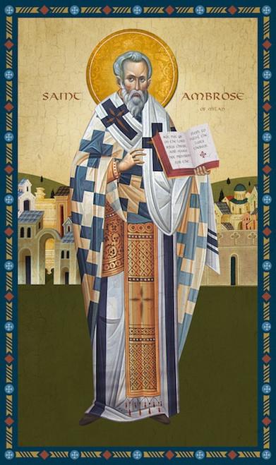 Icon of St. Ambrose of Milan - (1AM20)