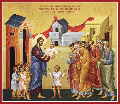 Icon of Christ blessing the children (11P34)