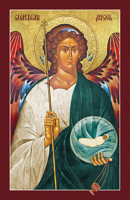 Icon of the Guardian Angel with the Departed - (1AN17)