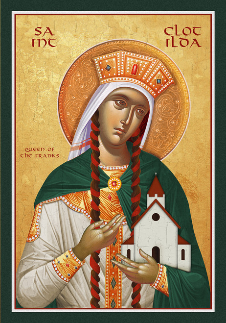 Icon of St. Clotilda Queen of the Franks - (1CL55)