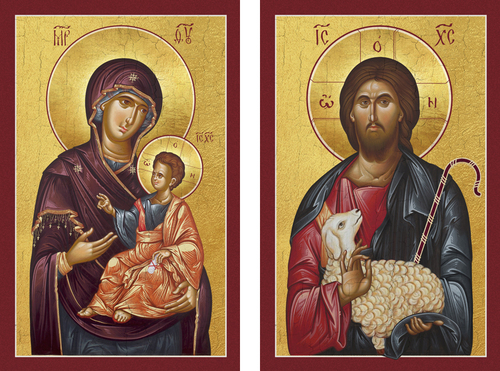 "The Theotokos ""Mother of the Lost""  and Christ as the ""Good Shepherd""."