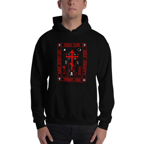 Schemamonk – Men's Pull Over Hooded Sweatshirt