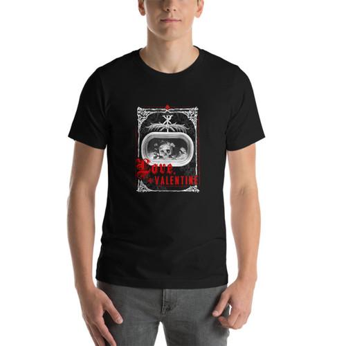 Love, Valentine - Men's T-shirt (dark)