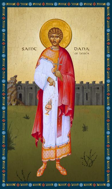 Saint Dana of Leuca. Early Christian deacon and martyr of the West.