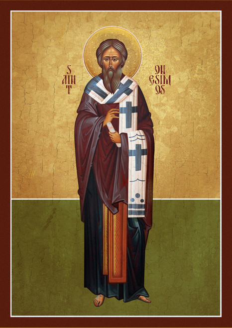 A Traditional and contemporary icon of Saint Onesimus (Apostle) of the Seventy.