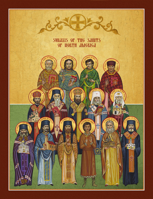 Icon of the Synaxis of the Saints of North America - 1NA20