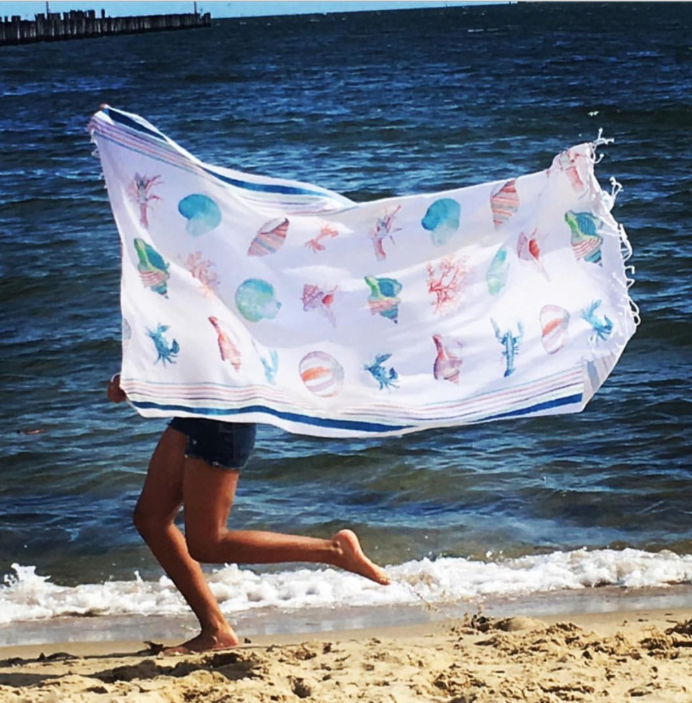 Amarine Waffle cotton Beach Towel