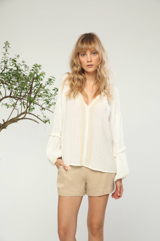 Damaria Top off white beige Charlie Joe
