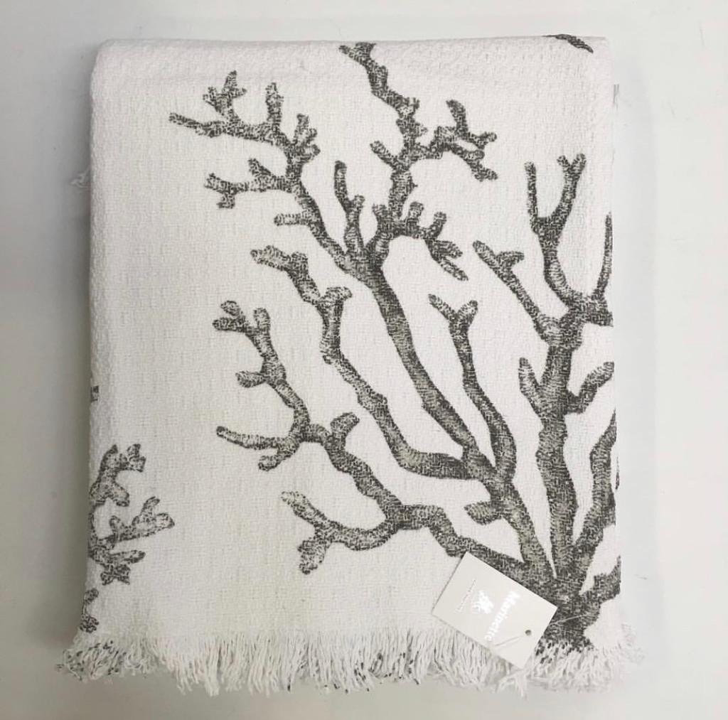 Bed Throw Grey Coral 240cm x 260cm