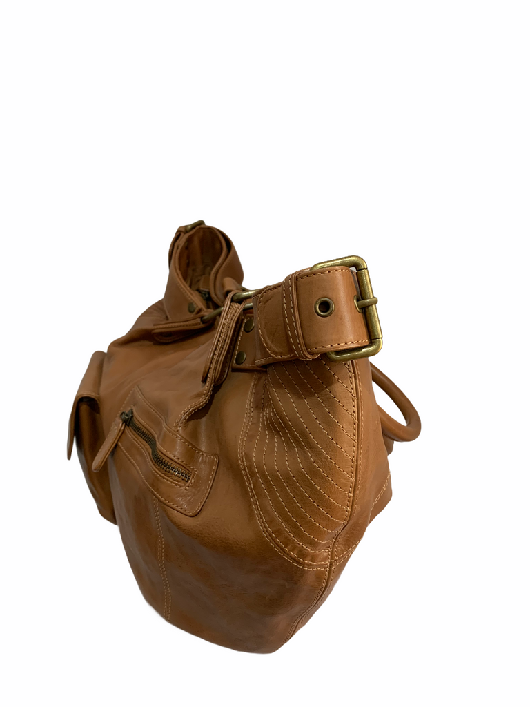 French Leather Hand Bag Fisher Boy IKKS