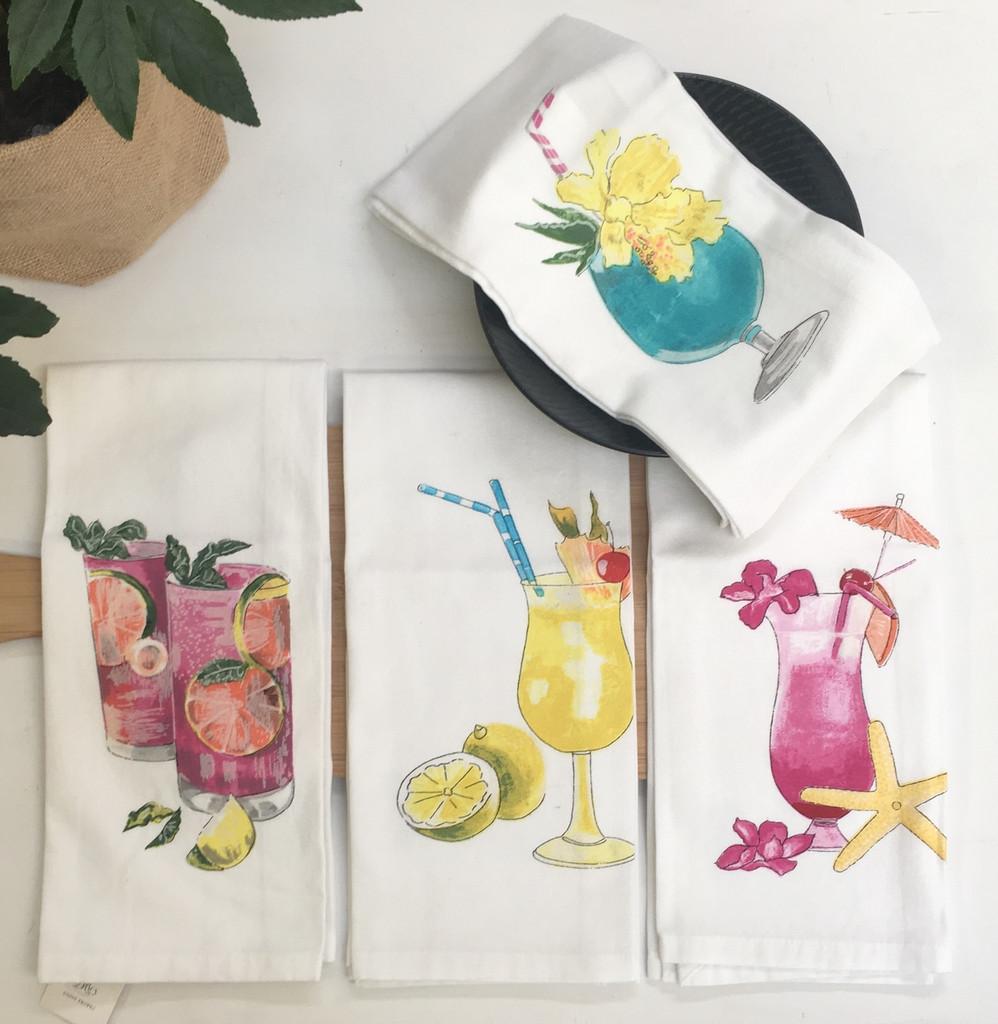 COCKTAILS - Kitchen Towels (Set OF 4)