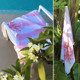 Beaurivage Rose fushia Luxurious Beach towel! live life with style!