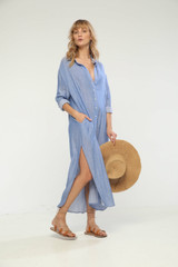Tizia long dress Blue